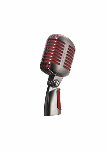 Mikrofon silber rot