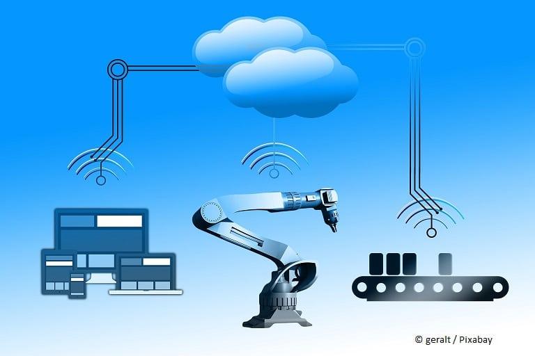 Fabrik Roboter Maschine